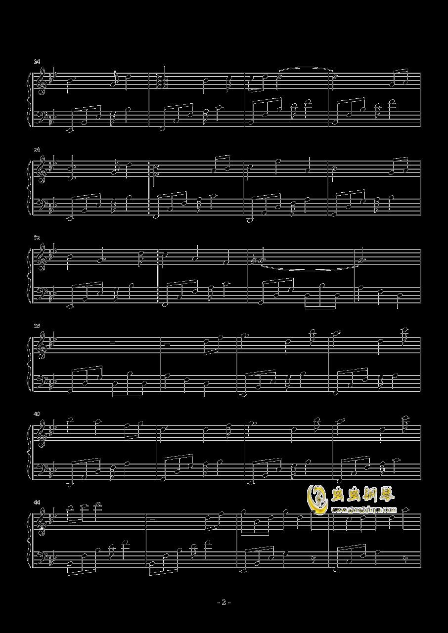 【原创】星空下的思念钢琴谱 第2页