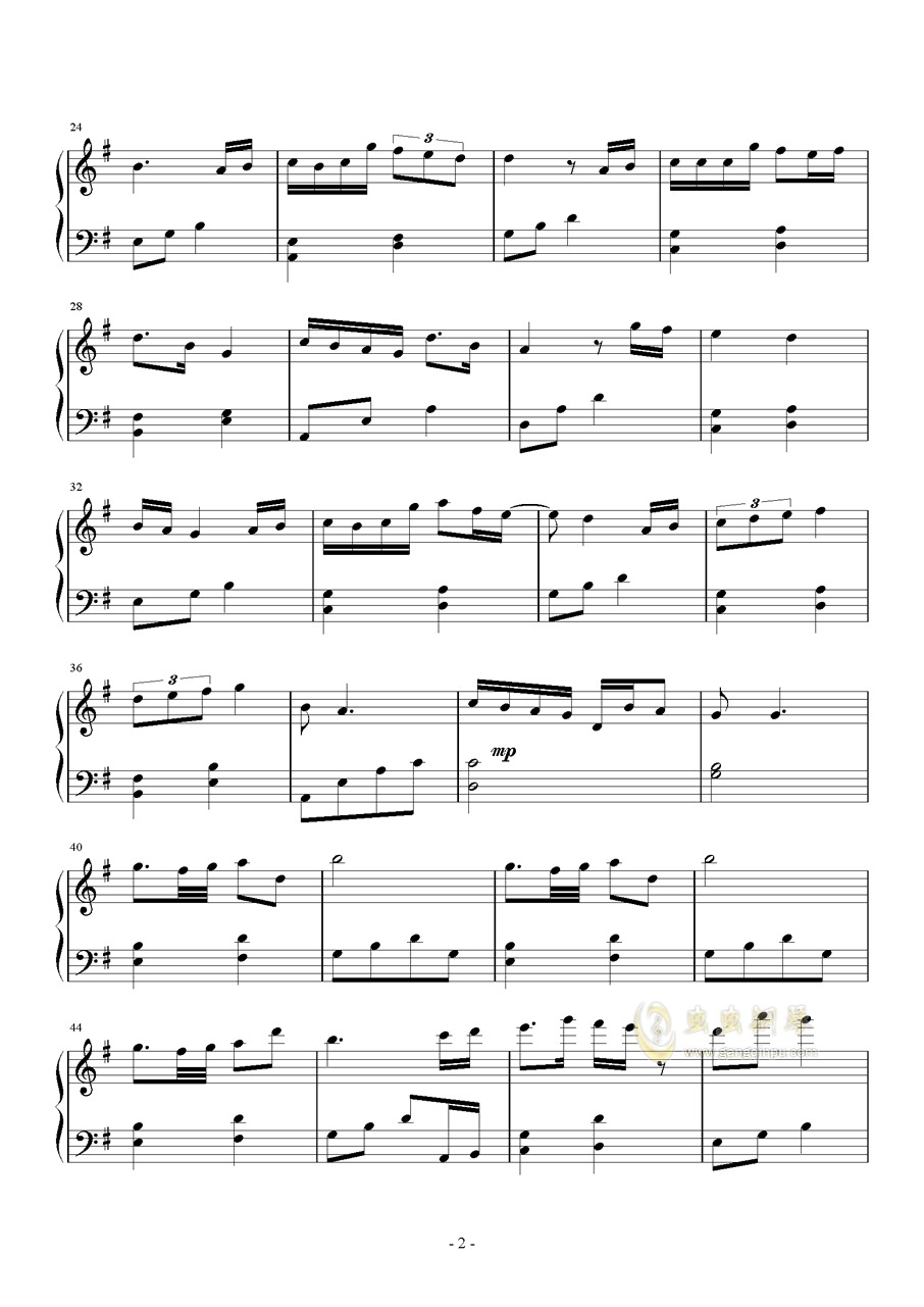 TOO BAD钢琴谱 第2页