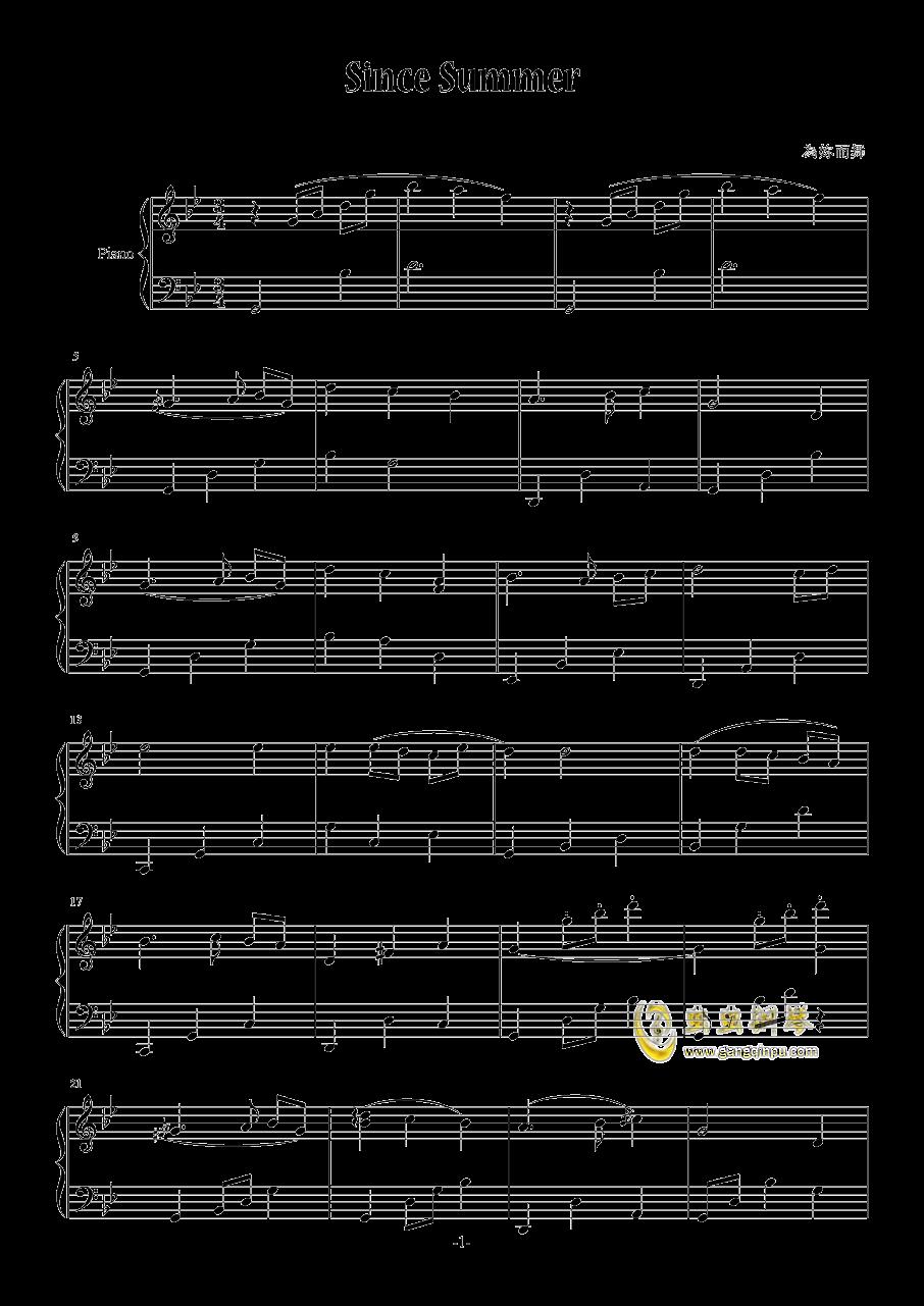 Since Summer钢琴谱 第1页
