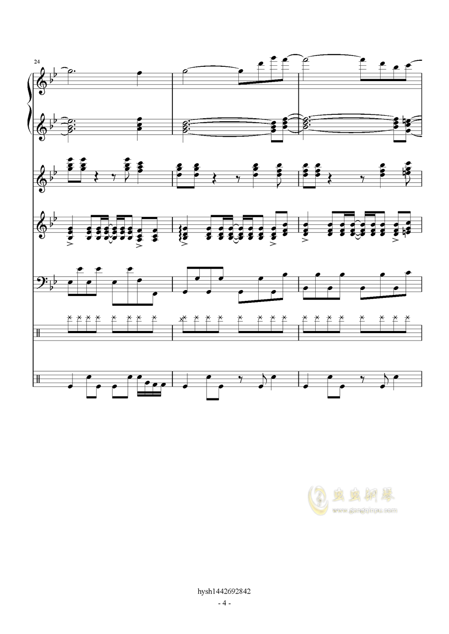 Uprising钢琴谱 第4页
