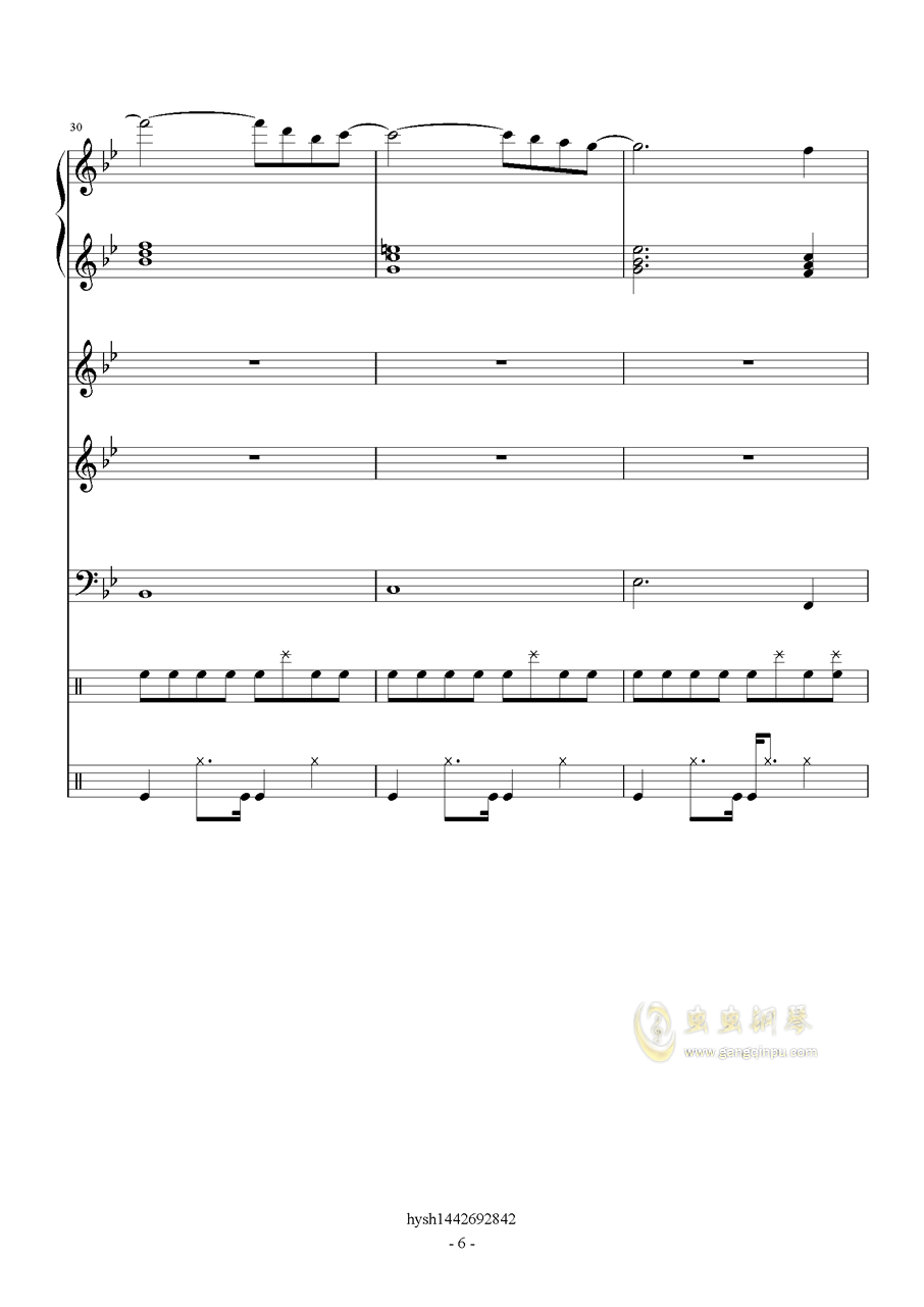 Uprising钢琴谱 第6页