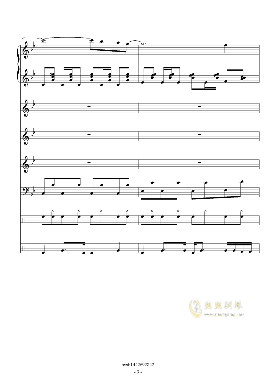 Uprising钢琴谱 第9页