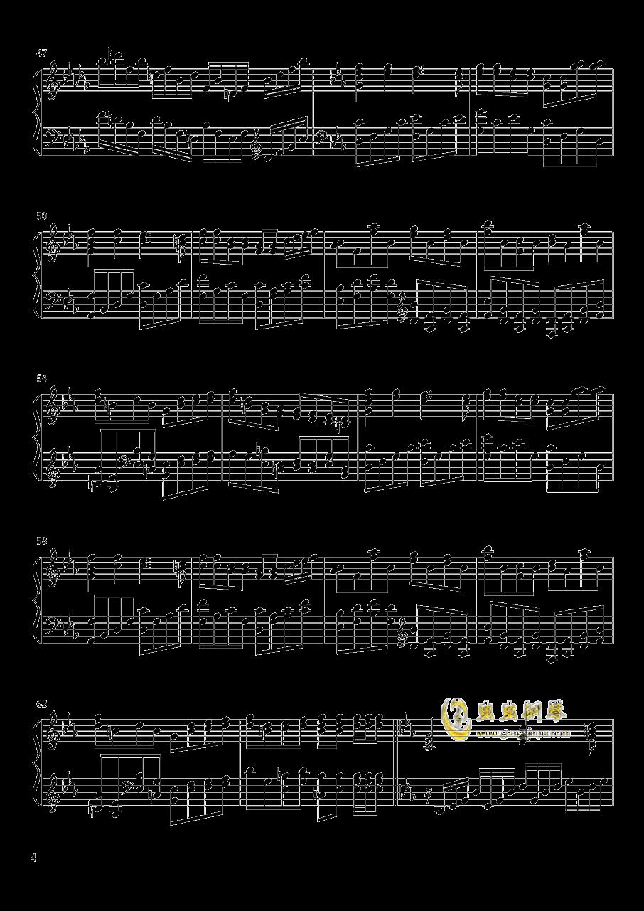 敢问路在何方钢琴谱 第4页