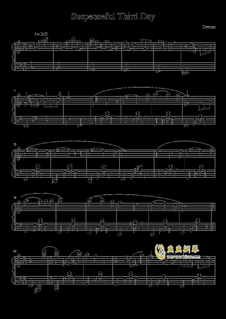 Suspenseful Third Day钢琴谱 第1页