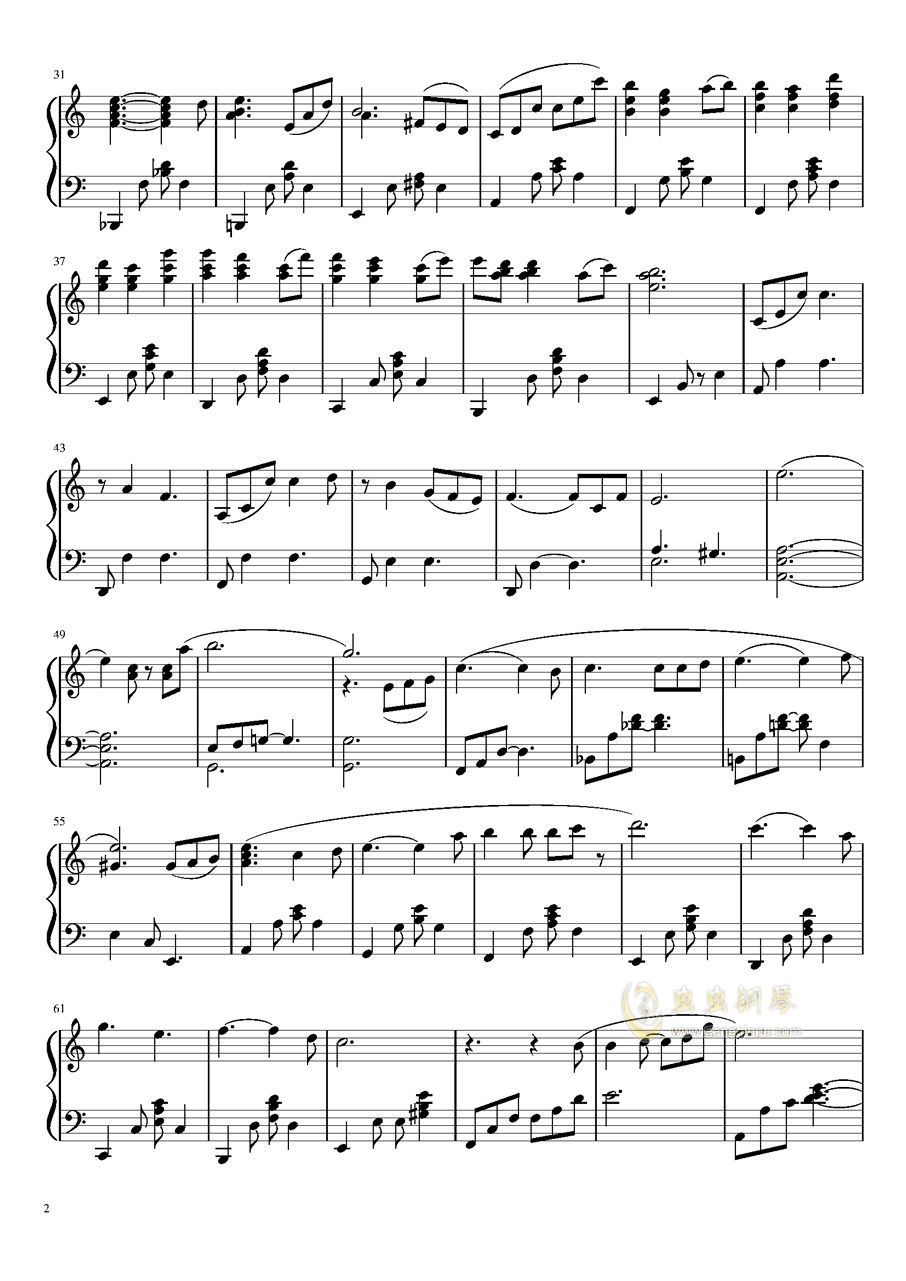 Suspenseful Third Day钢琴谱 第2页