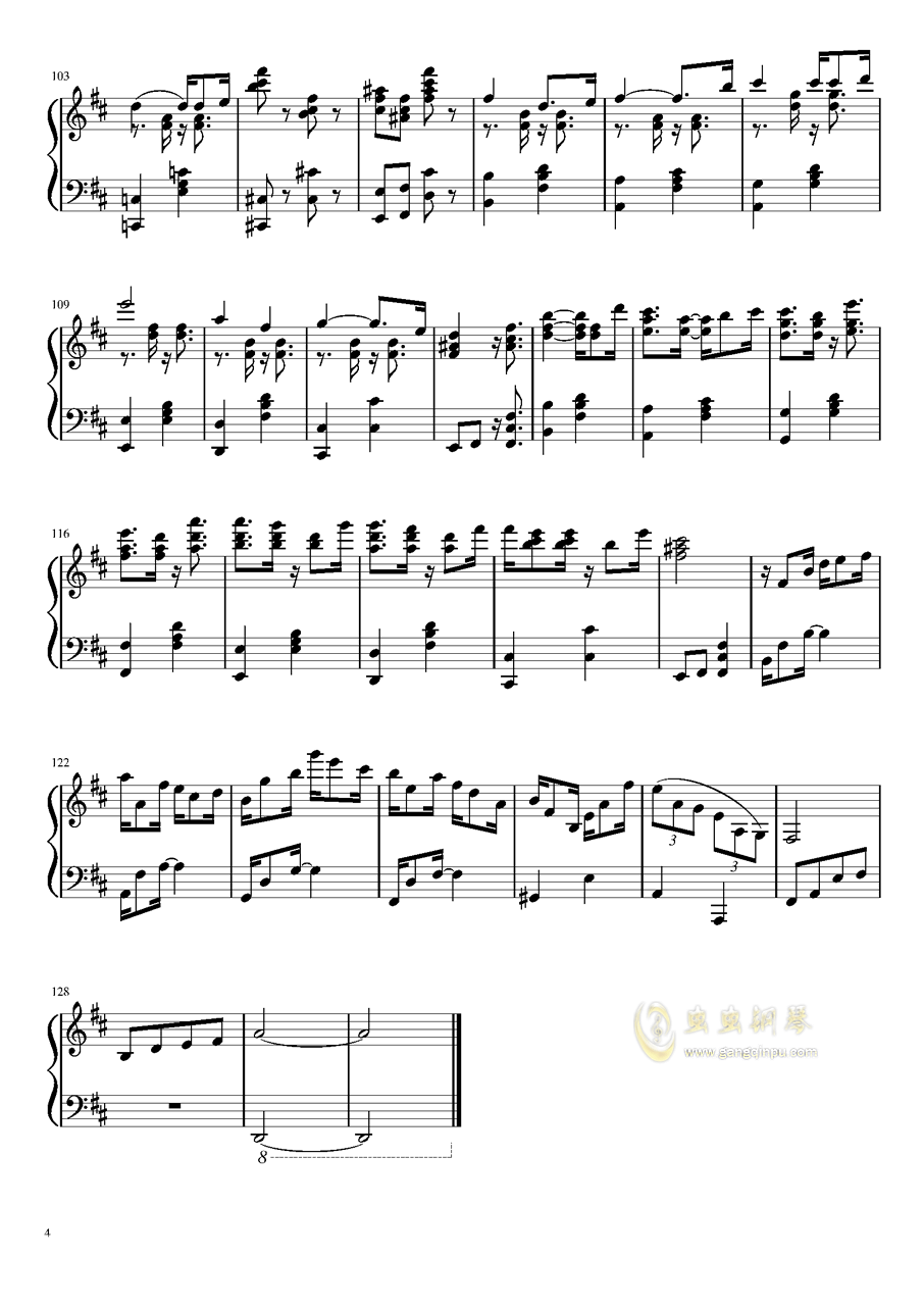 Suspenseful Third Day钢琴谱 第4页