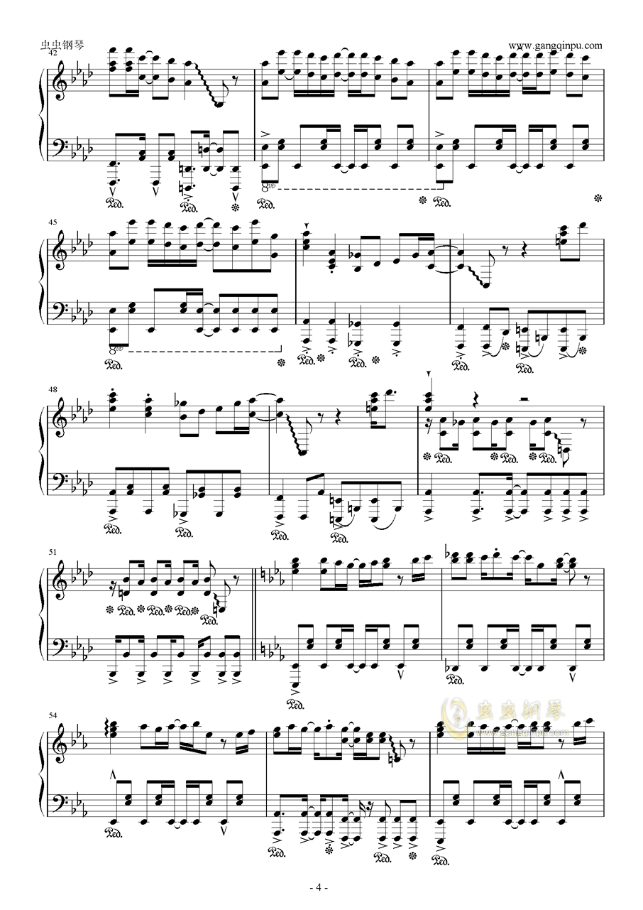 青空的狂想曲钢琴谱 第4页