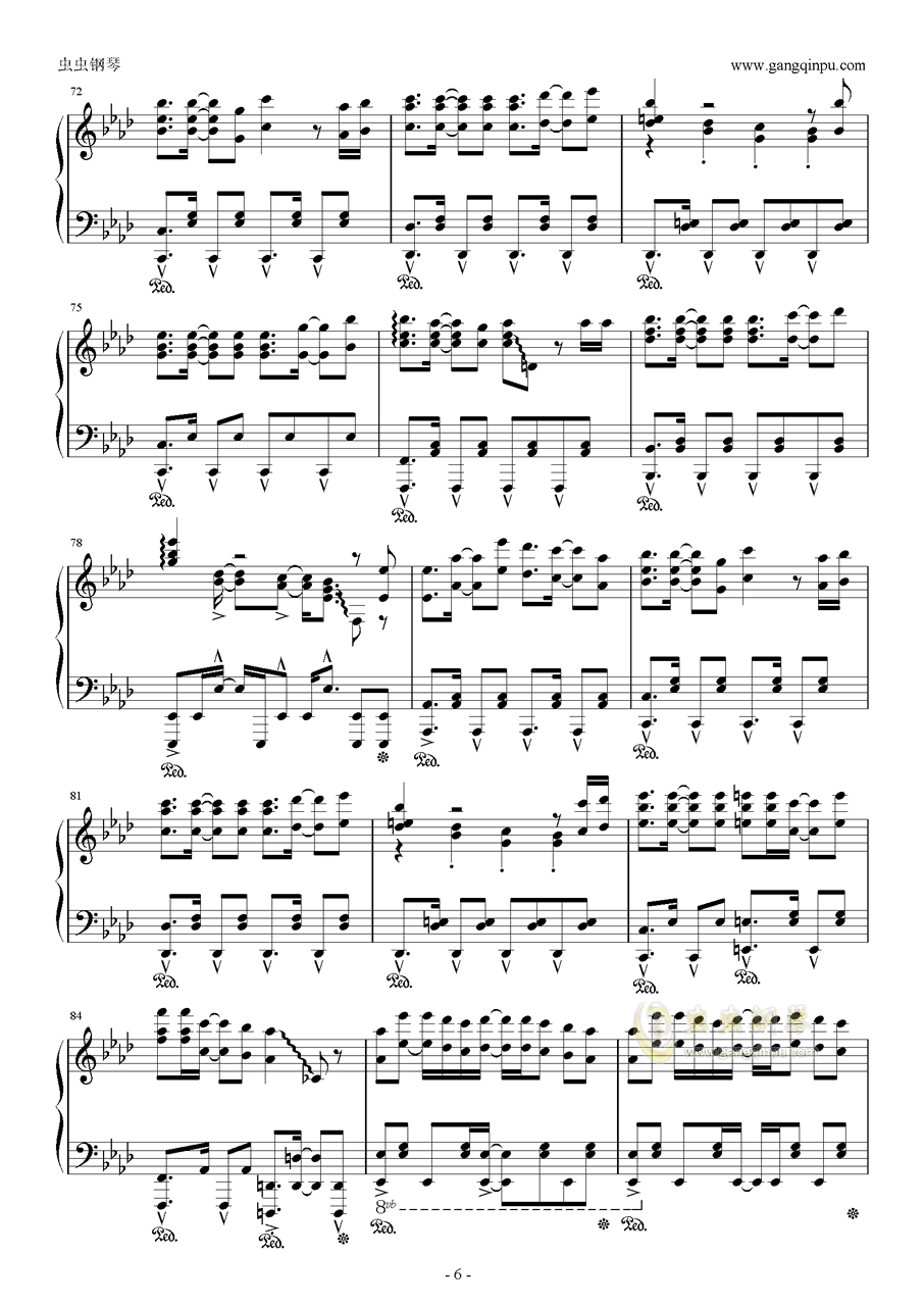 青空的狂想曲钢琴谱 第6页