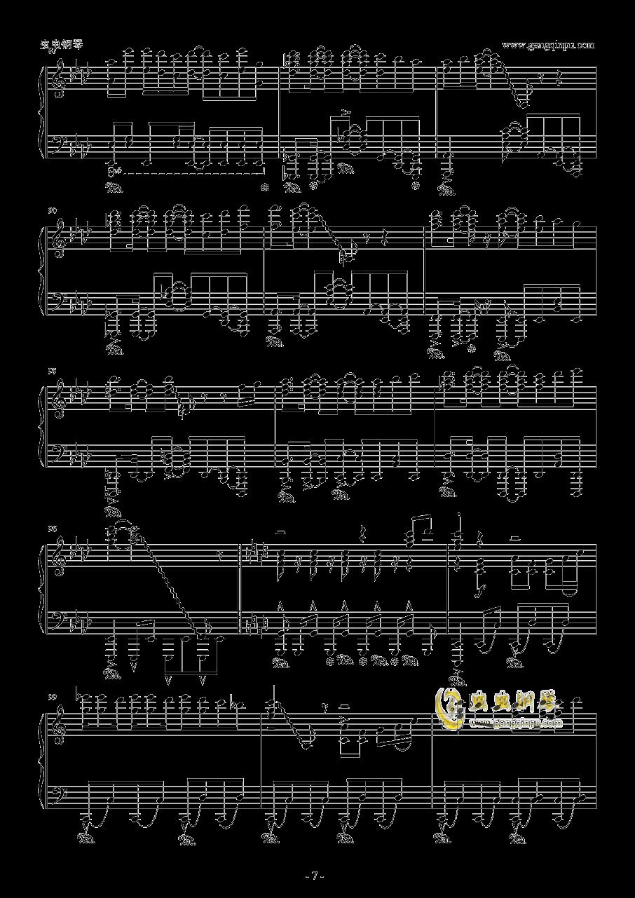 青空的狂想曲钢琴谱 第7页