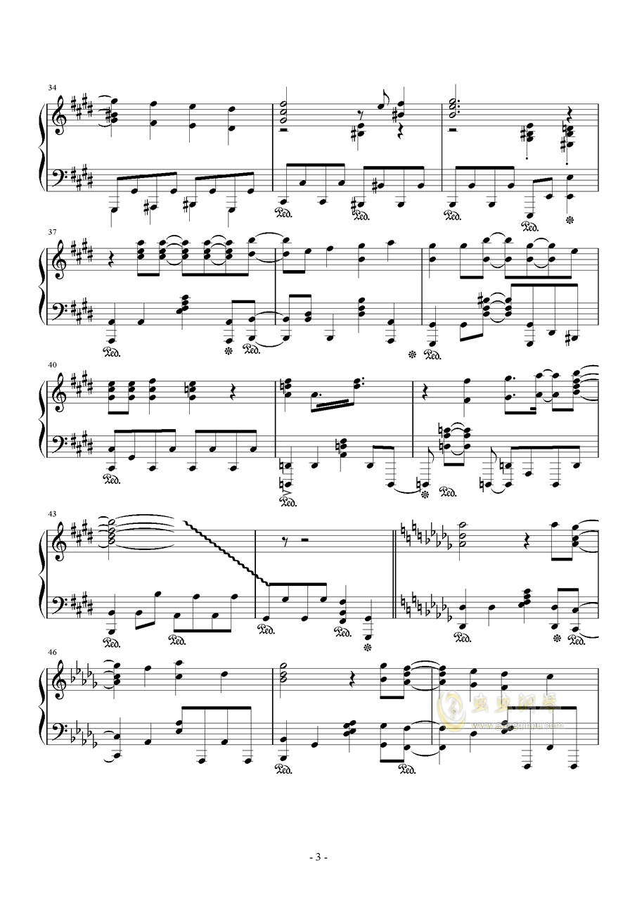 イシュカン·コミュニケーション钢琴谱 第3页