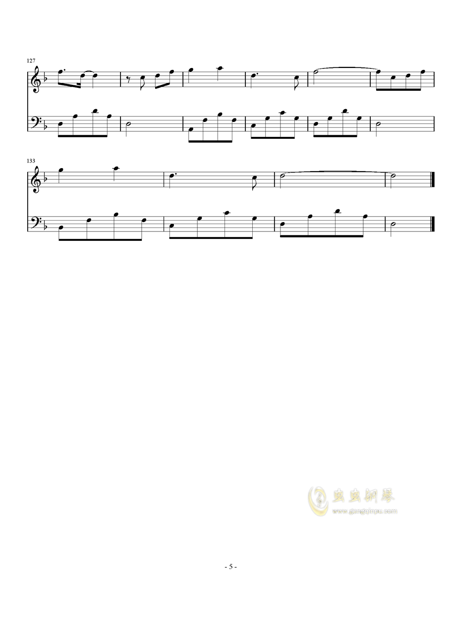 芊芊钢琴谱 第5页