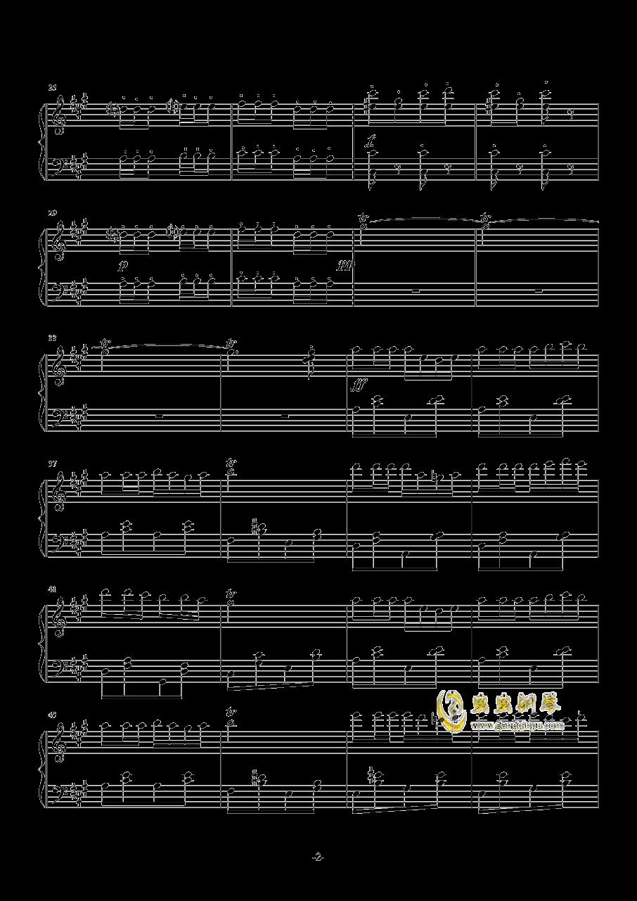 卡门序曲简单钢琴谱 第2页