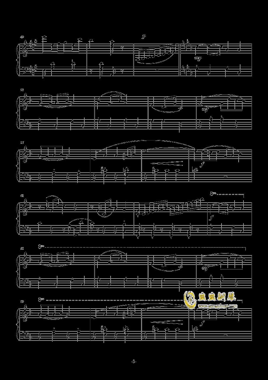 卡门序曲简单钢琴谱 第3页