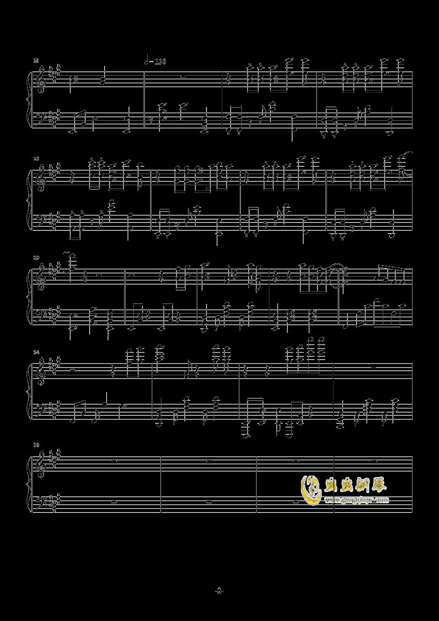 荣耀再临钢琴谱 第2页
