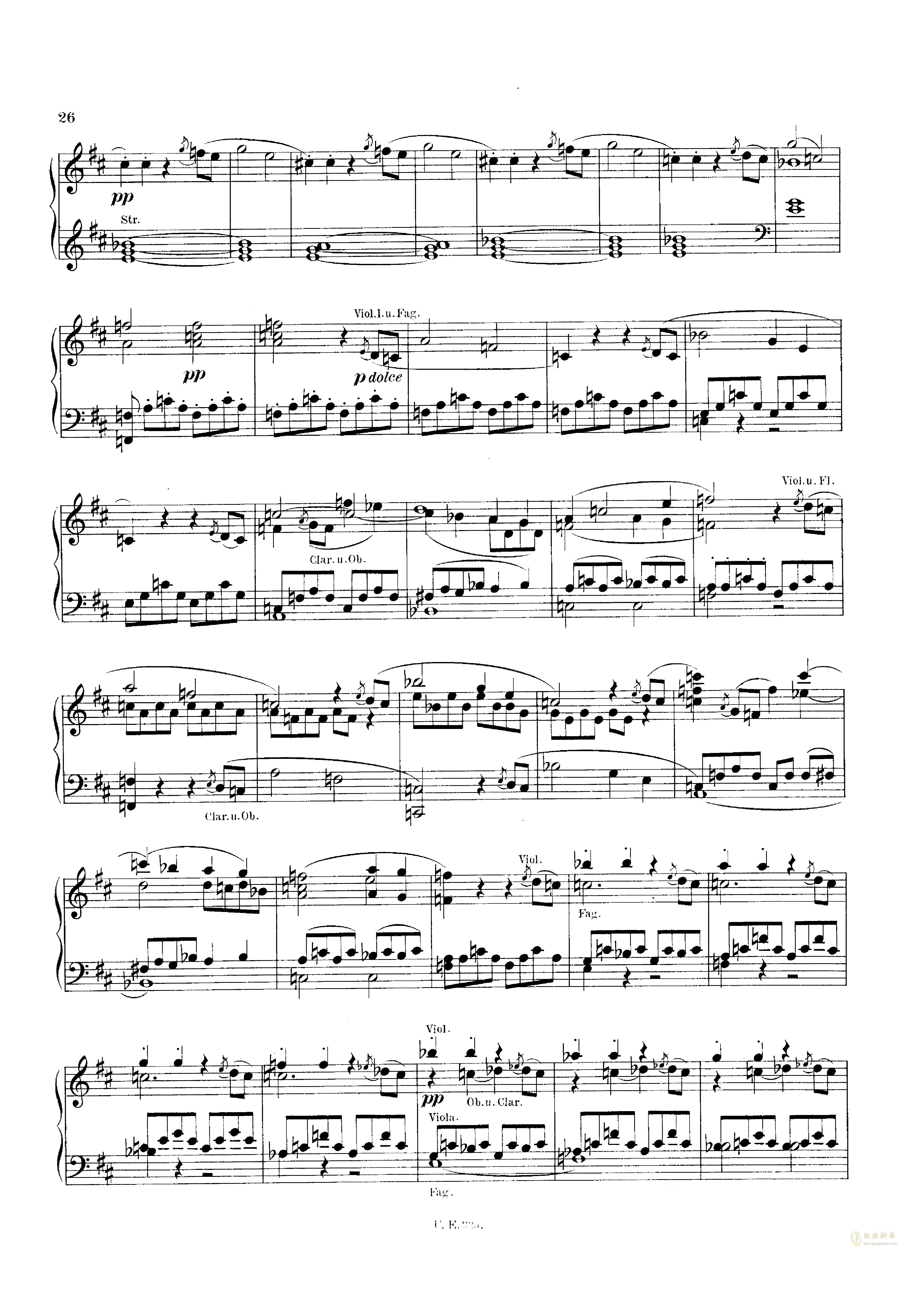 D大调第一交响曲钢琴谱 第26页