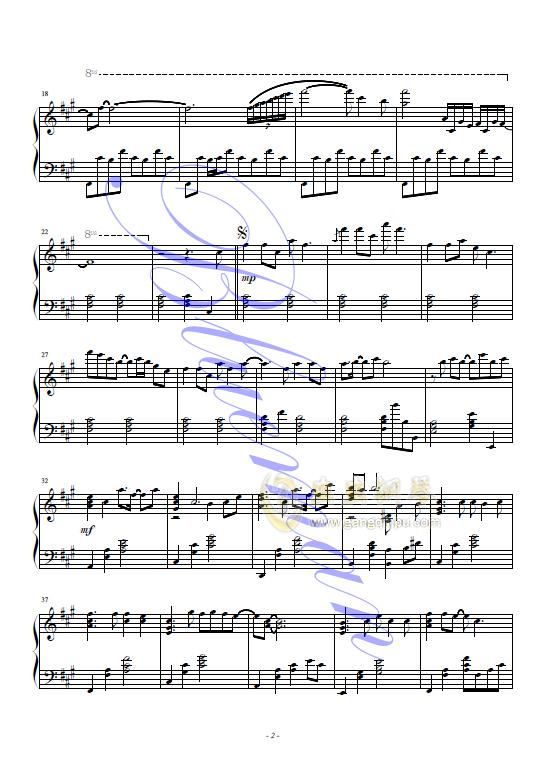 向往神鹰钢琴谱 第2页
