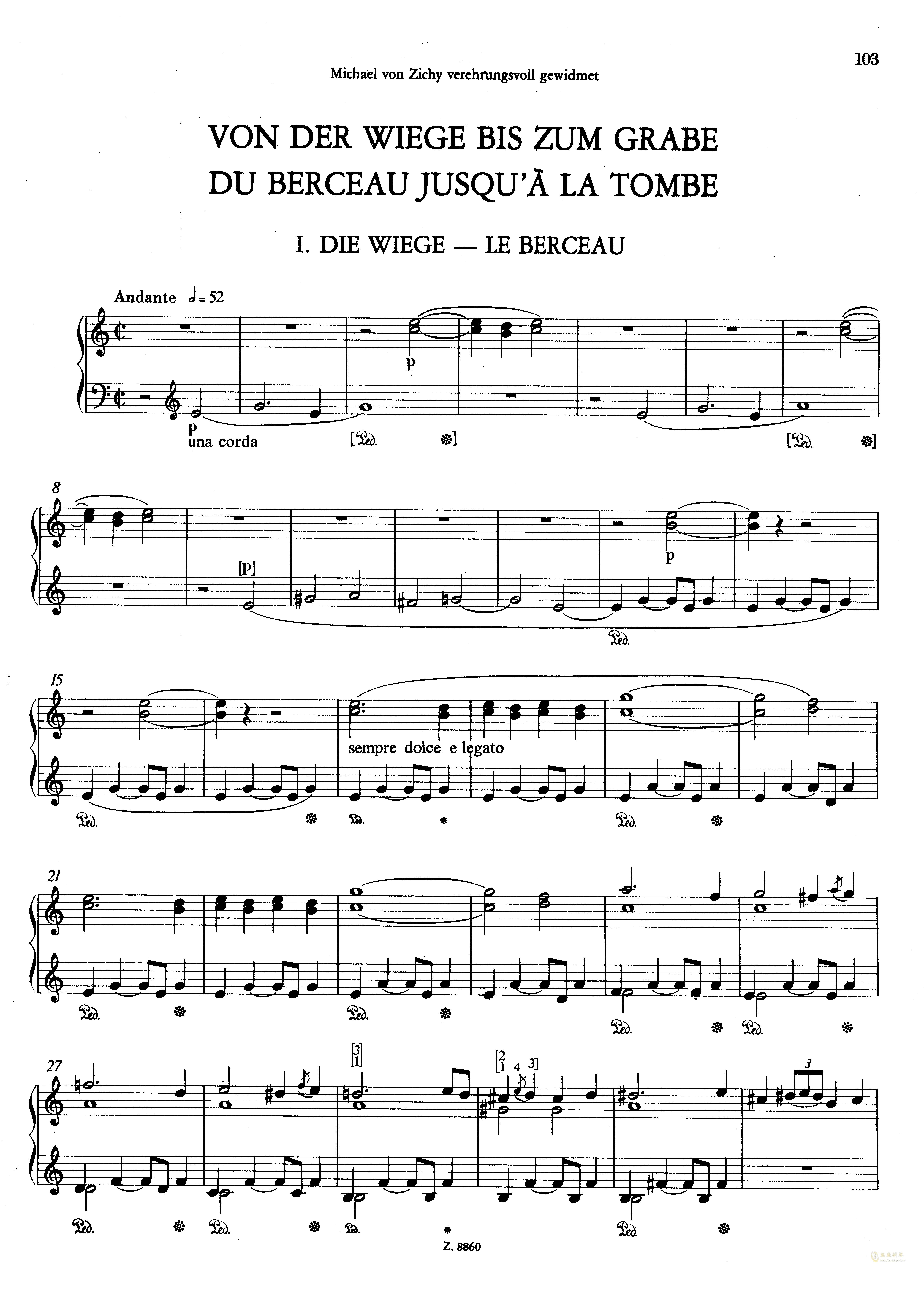 从摇篮到坟墓钢琴谱 第1页