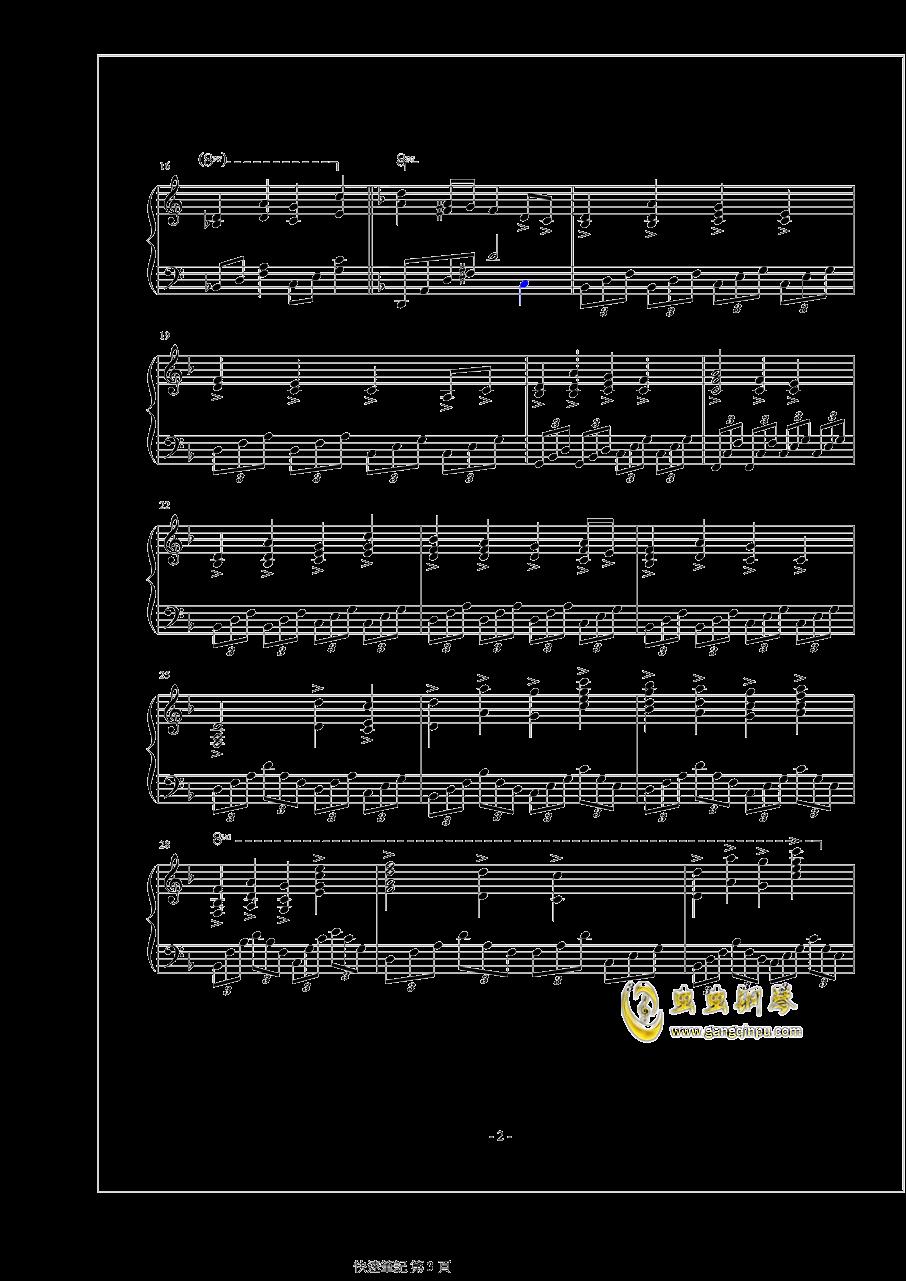 精�`�c�L钢琴谱 第3页