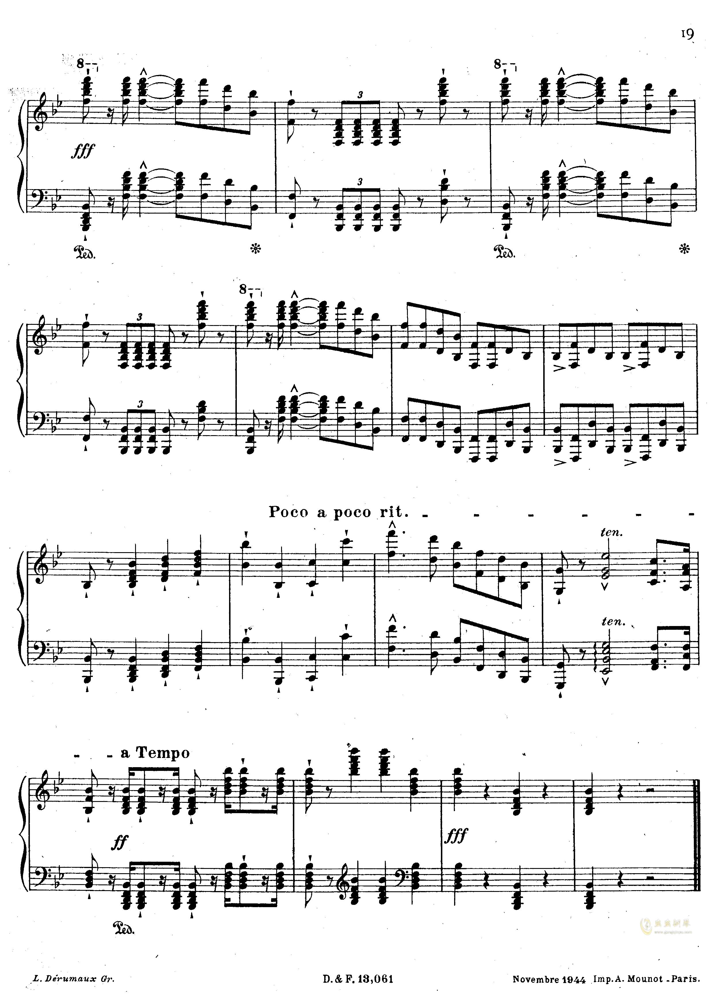 李马赛曲钢琴谱 第10页