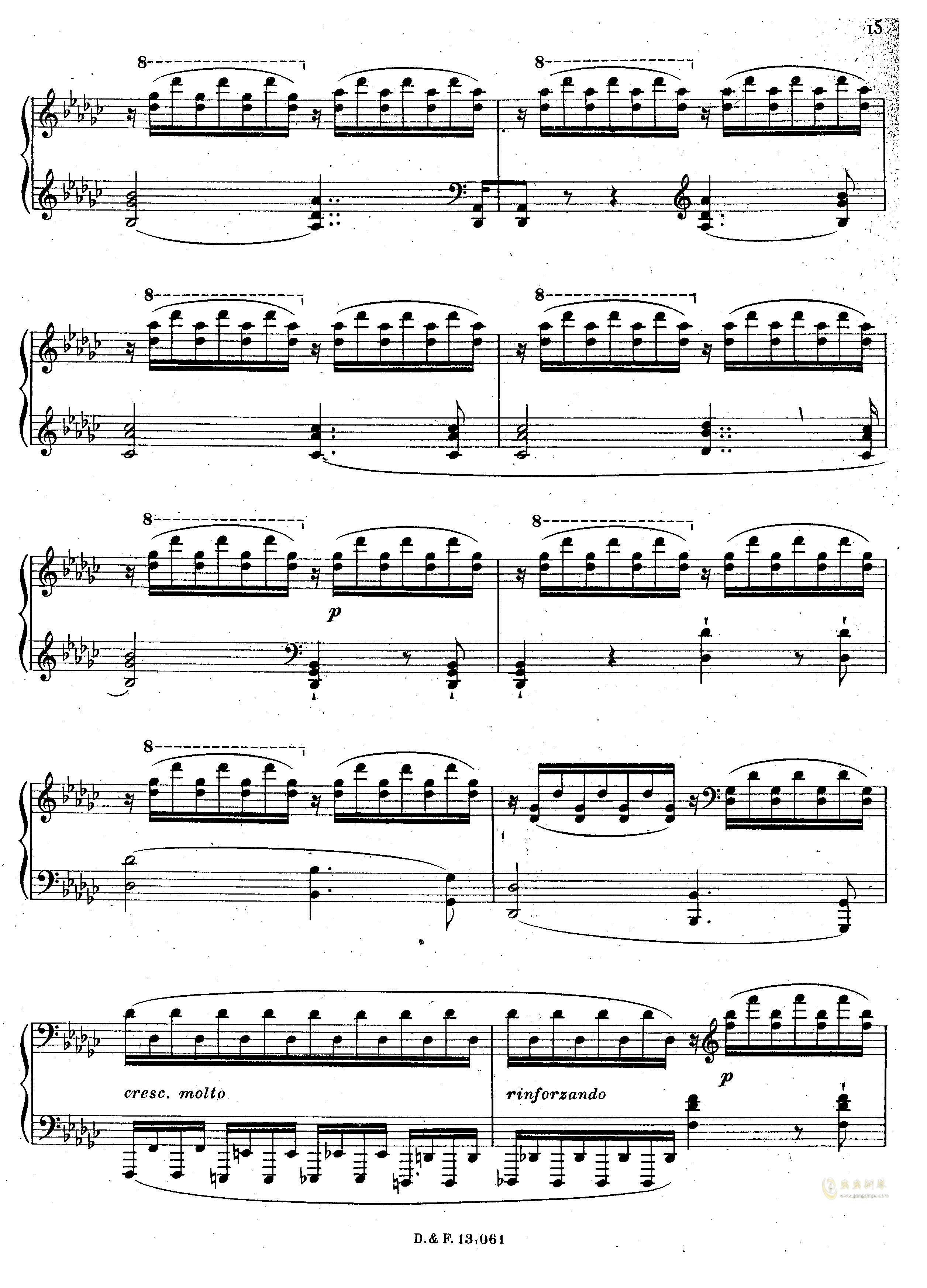 李马赛曲钢琴谱 第6页