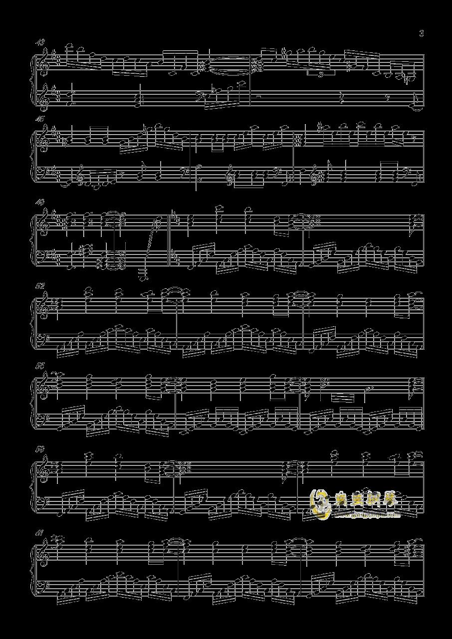 ネクロファンタジア钢琴谱 第3页