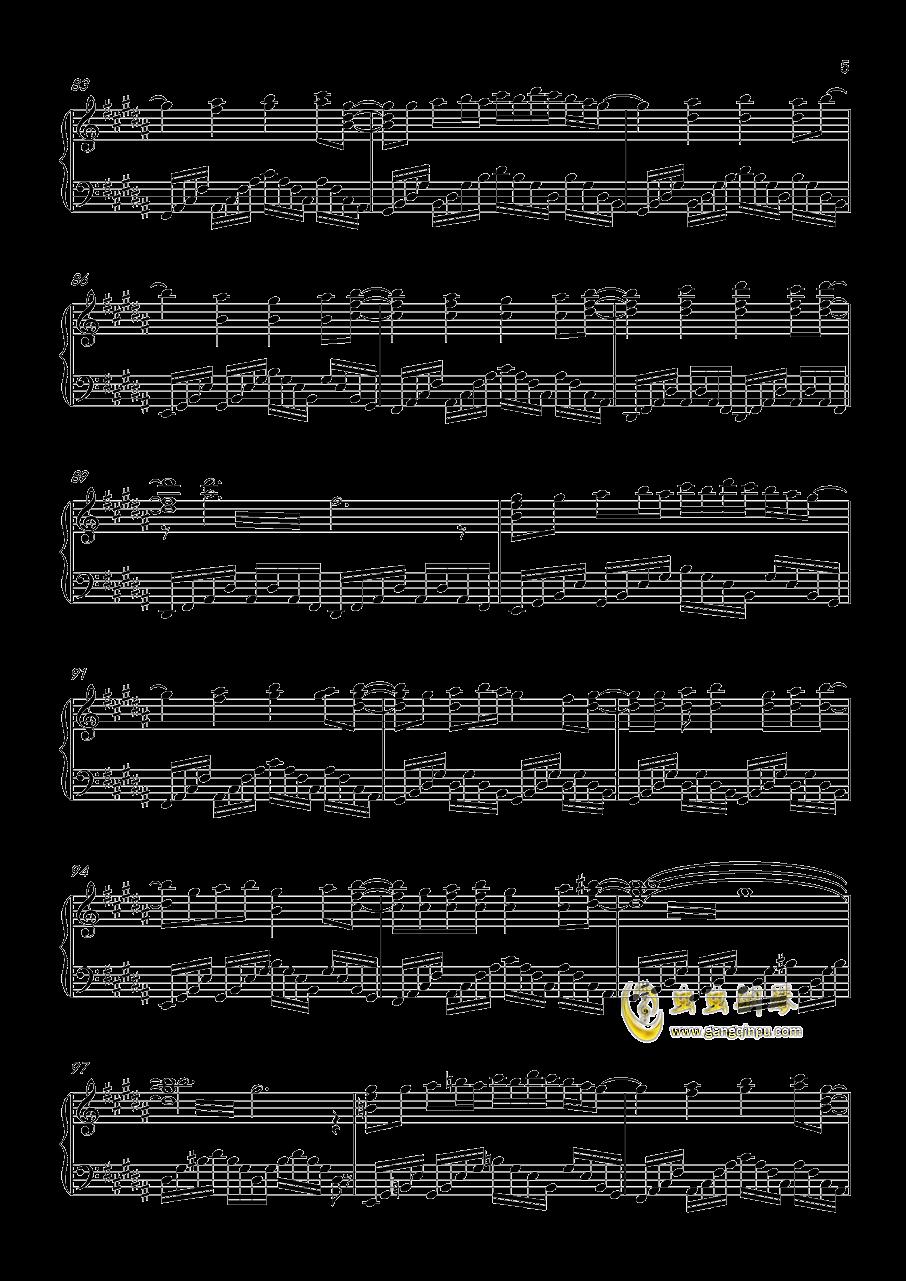 ネクロファンタジア钢琴谱 第5页