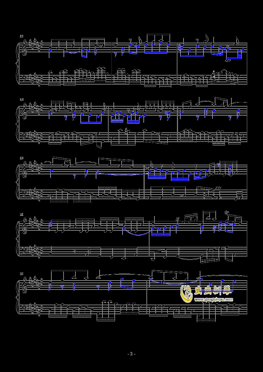 升F大调赋格钢琴谱 第2页