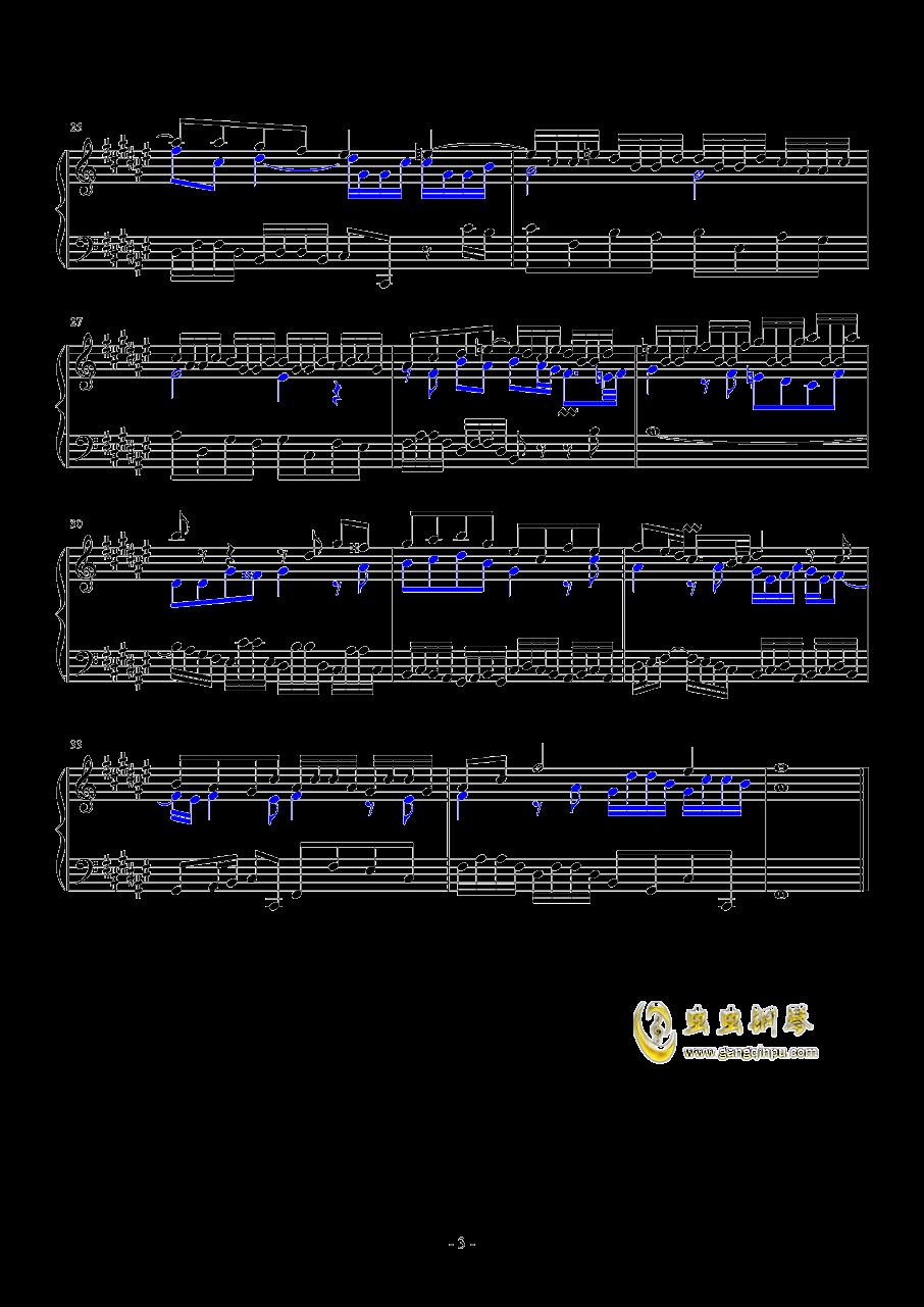 升F大调赋格钢琴谱 第3页