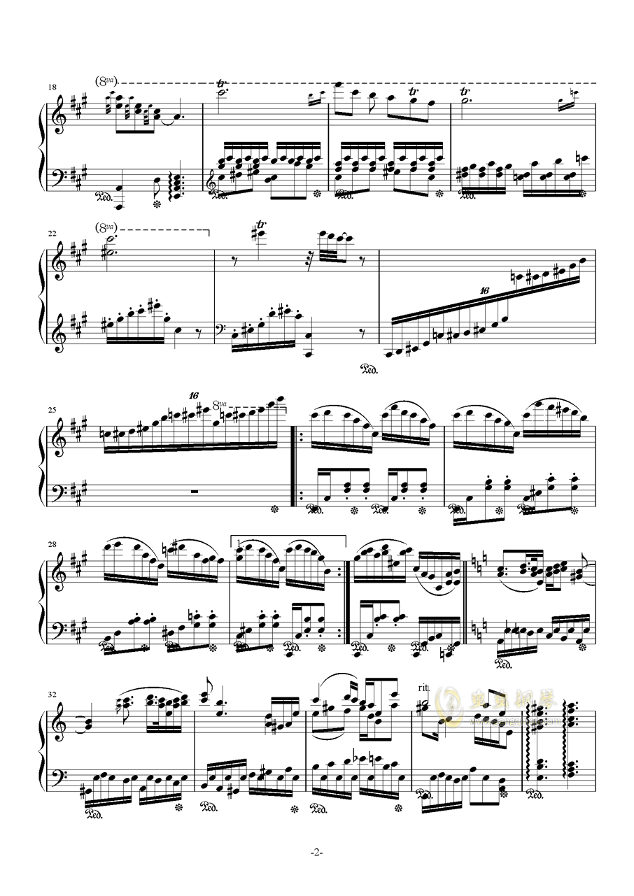 花丛舞者钢琴谱 第2页