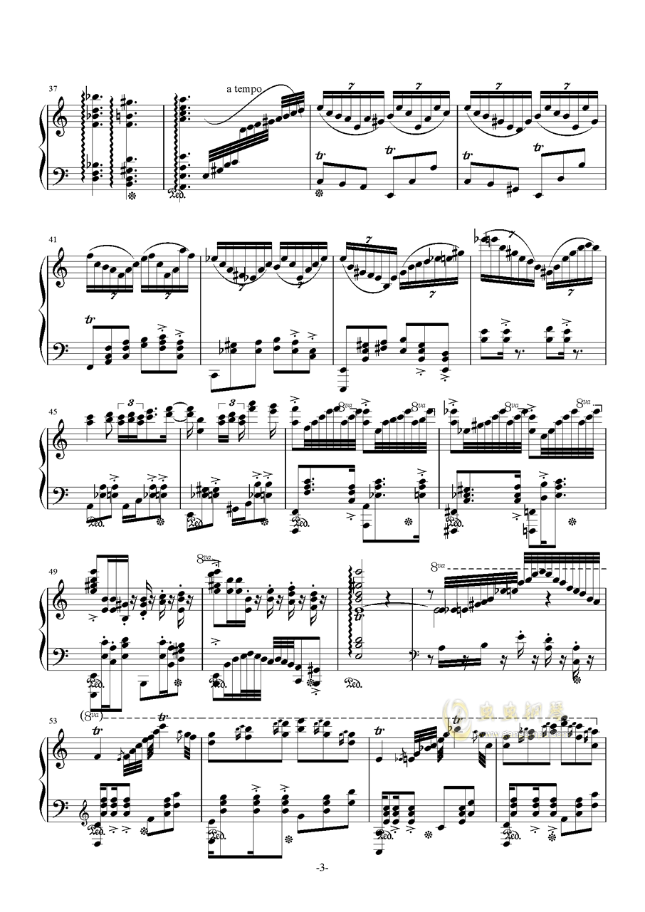 花丛舞者钢琴谱 第3页