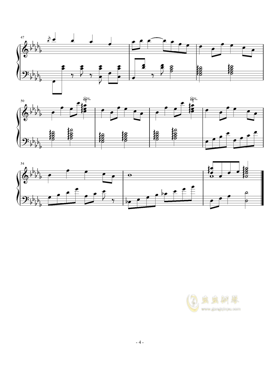 Refugee camp钢琴谱 第4页