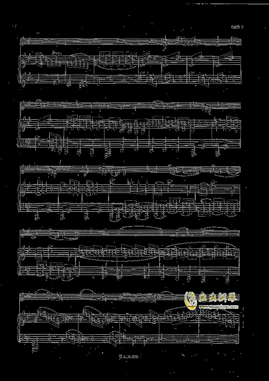 G大调小提琴奏鸣曲钢琴谱 第6页