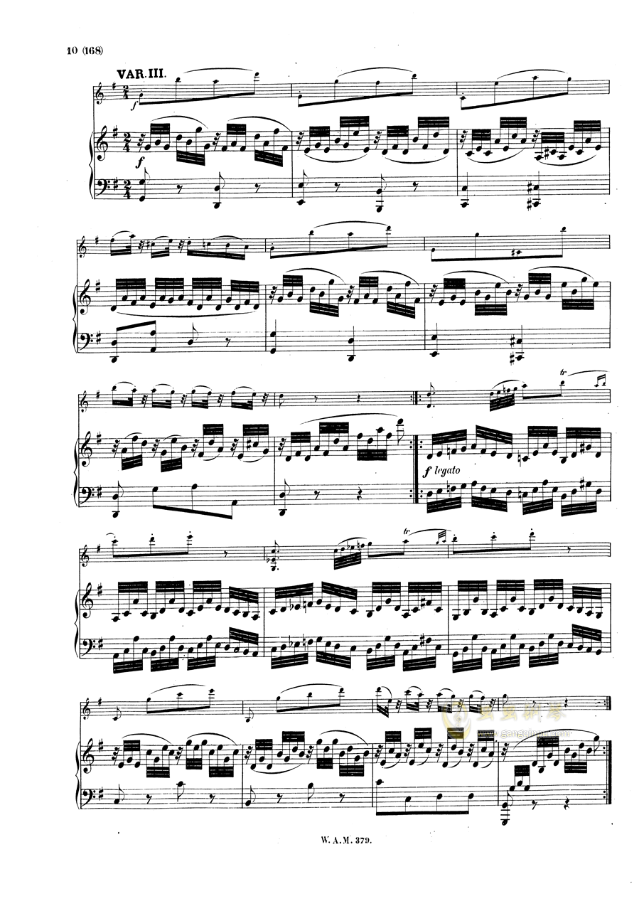 G大调小提琴奏鸣曲钢琴谱 第9页
