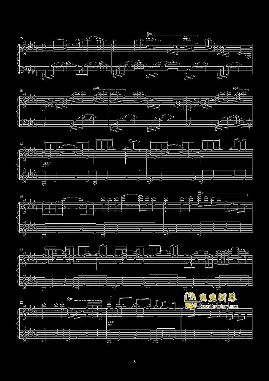 Luv Letter钢琴谱 第4页
