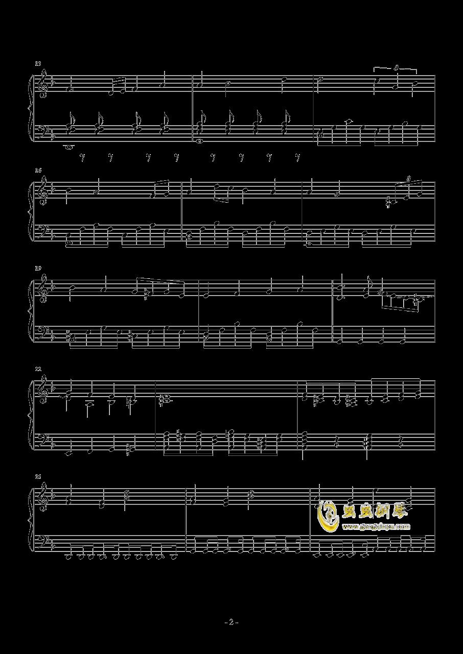 无悔的抉择钢琴谱 第2页