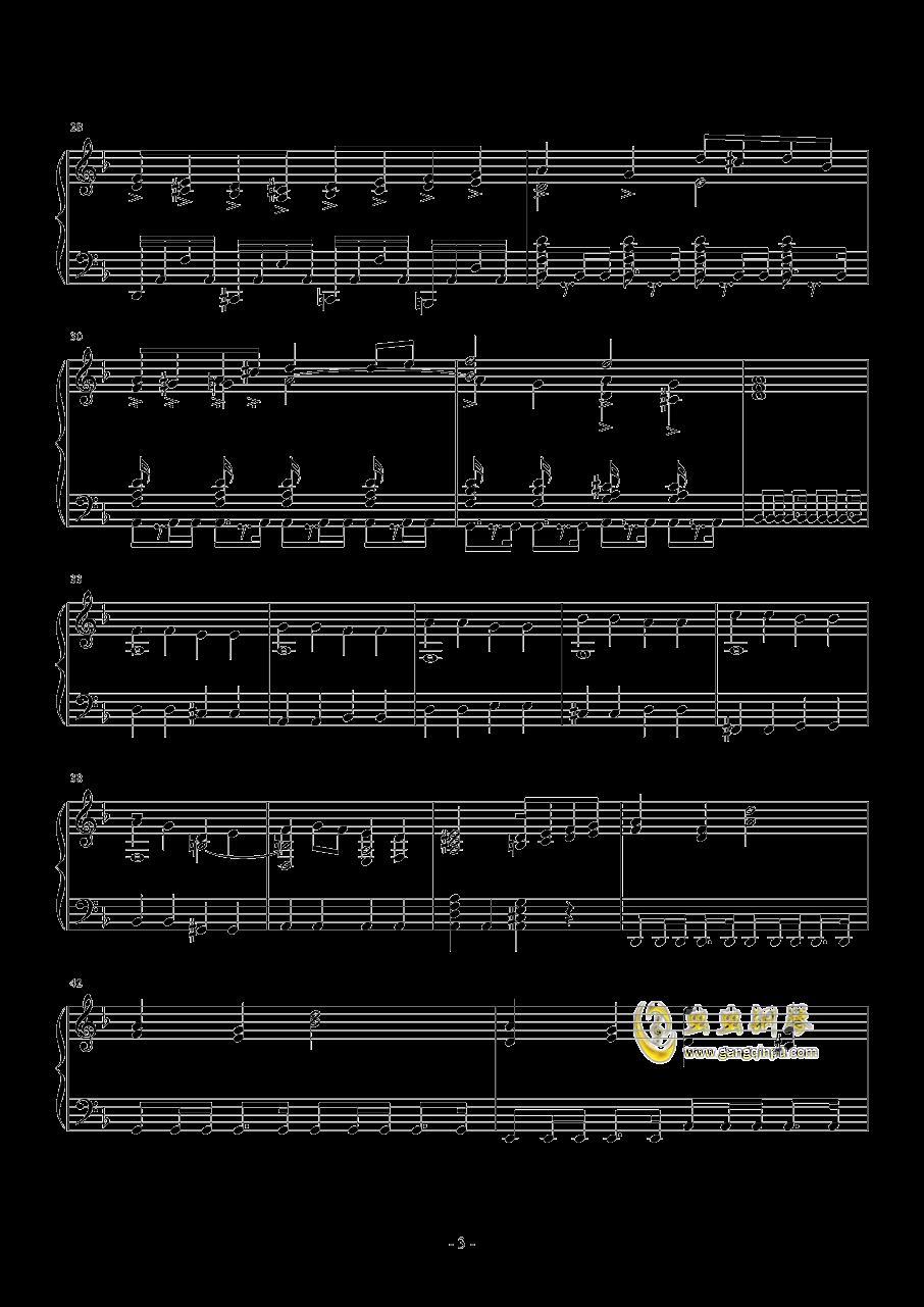 无悔的抉择钢琴谱 第3页
