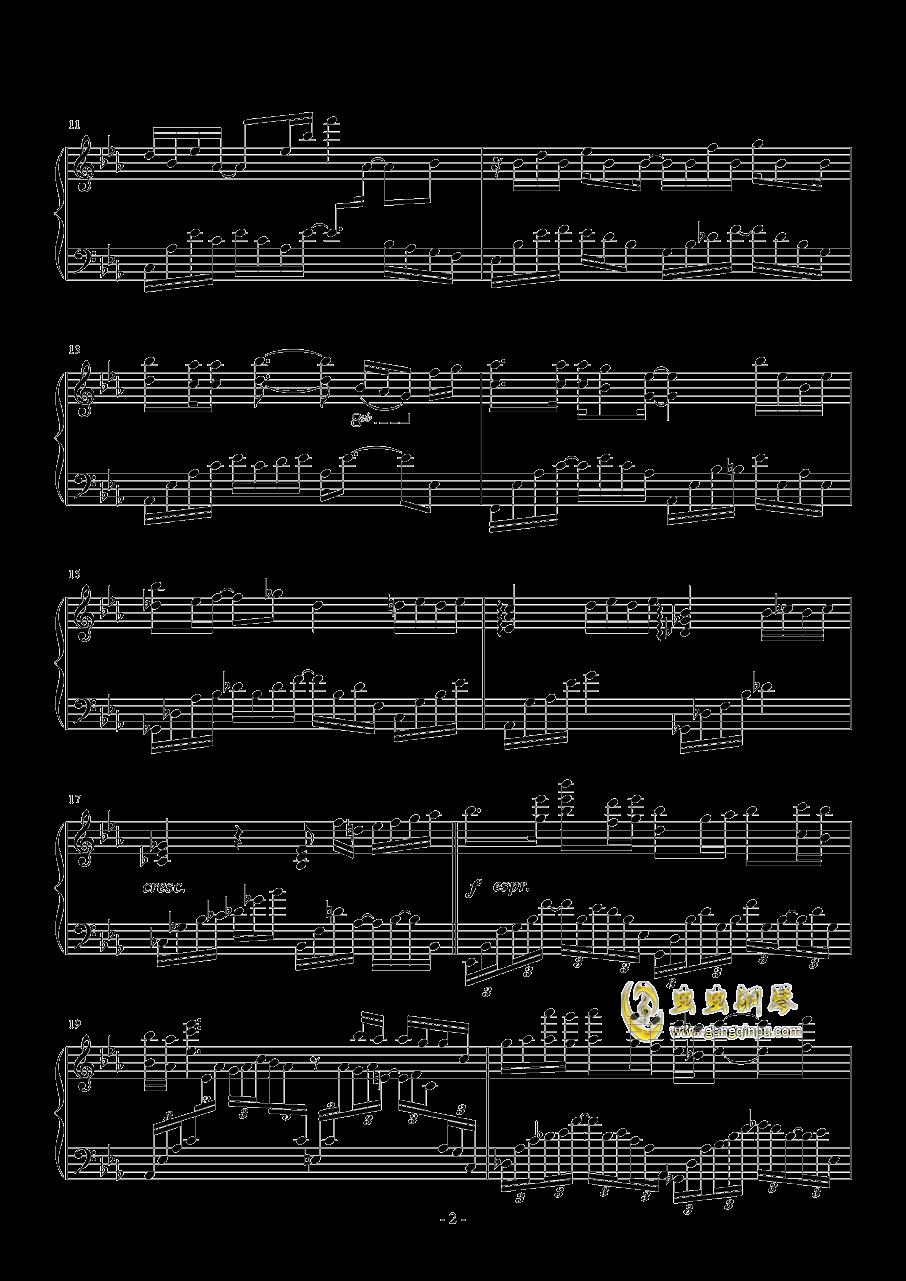 蝶舞钢琴谱 第2页