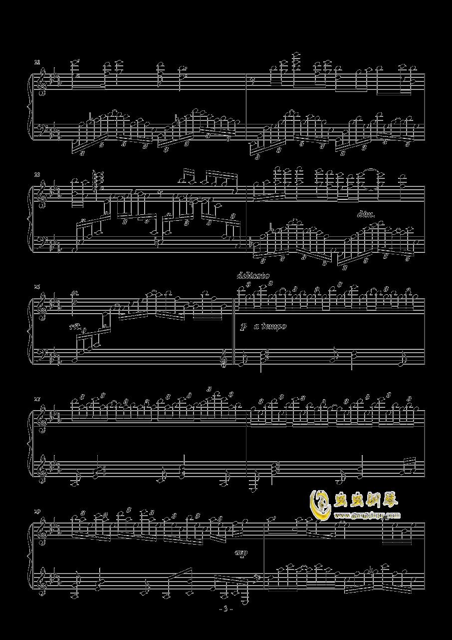 蝶舞钢琴谱 第3页