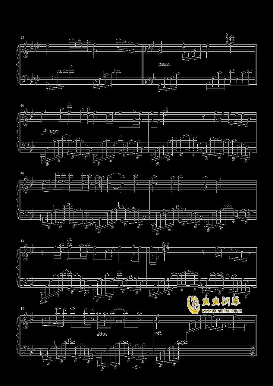 蝶舞钢琴谱 第5页
