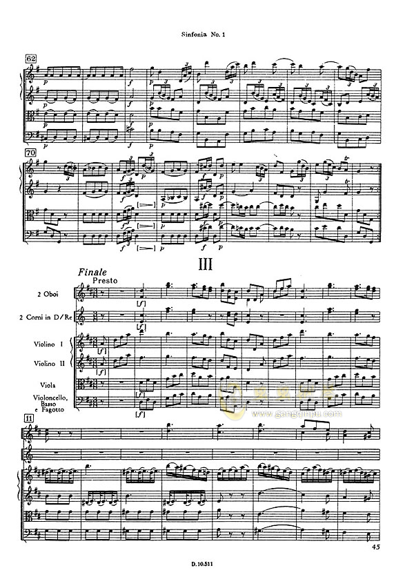 D大调第一交响曲钢琴谱 第11页