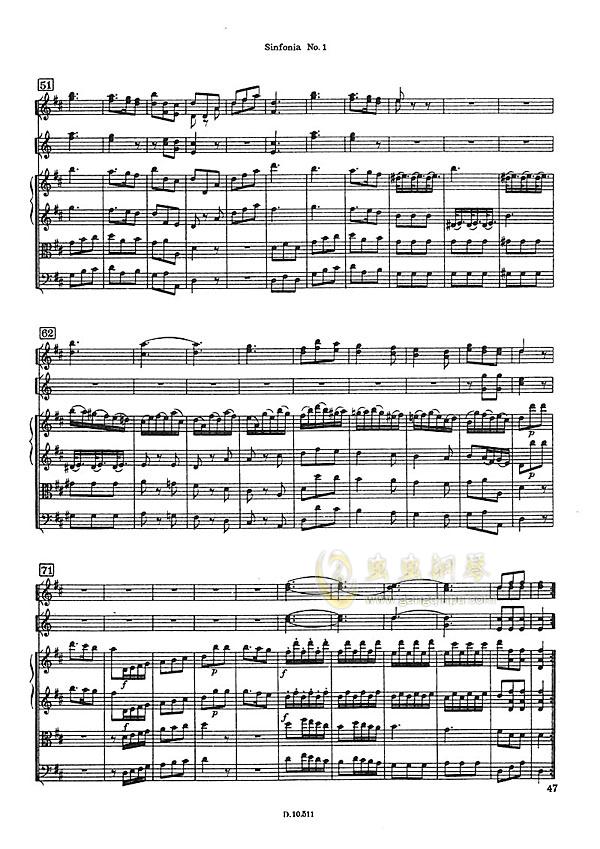D大调第一交响曲钢琴谱 第13页