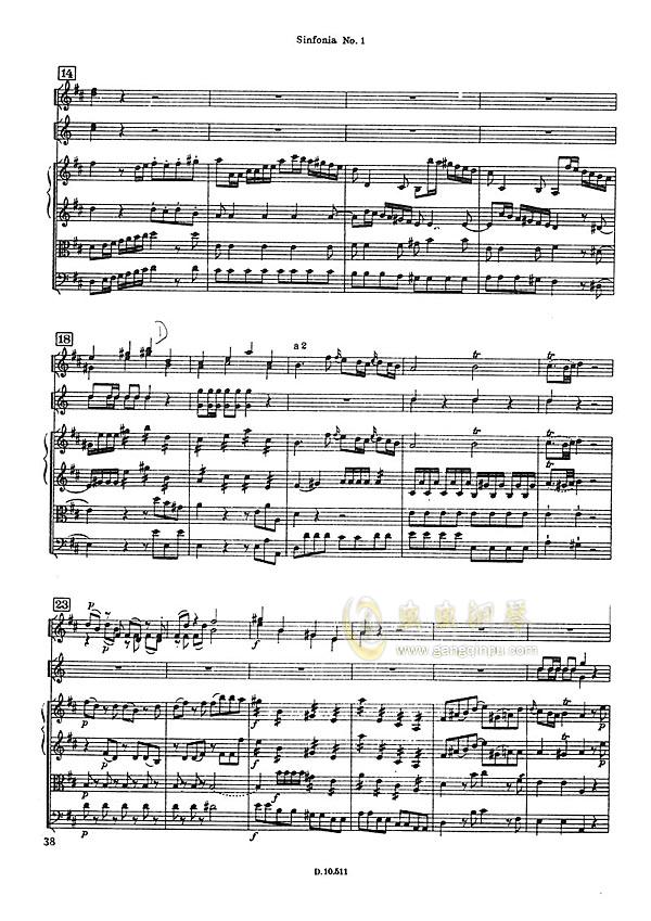 D大调第一交响曲钢琴谱 第4页