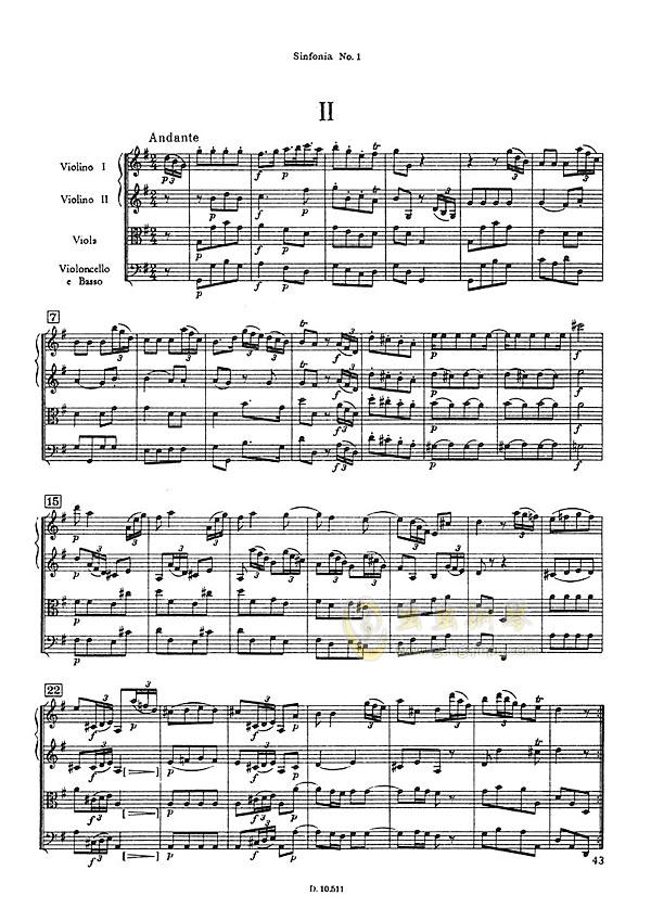 D大调第一交响曲钢琴谱 第9页