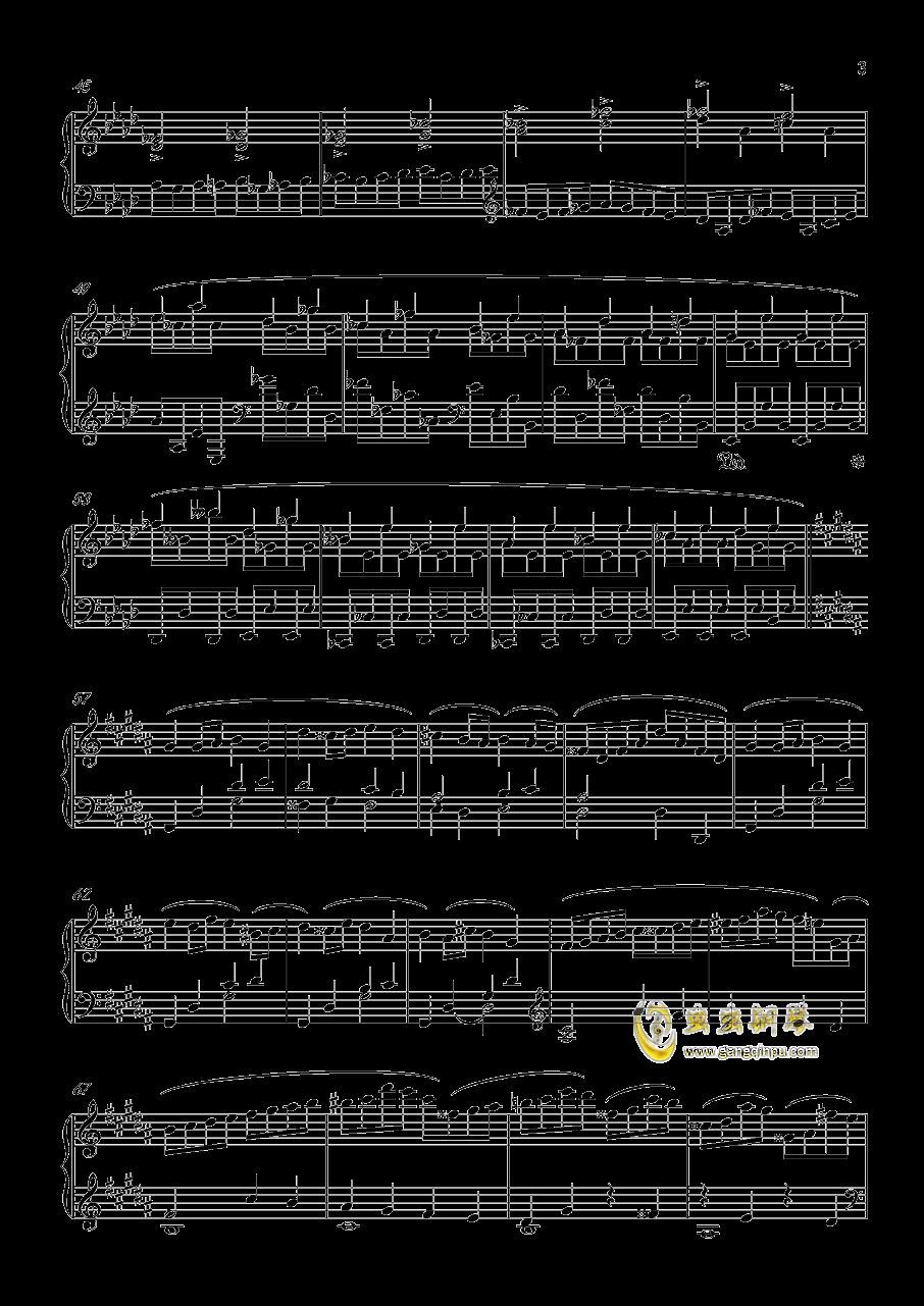 大鱼谱子f-钢琴谱 f小调 练习曲