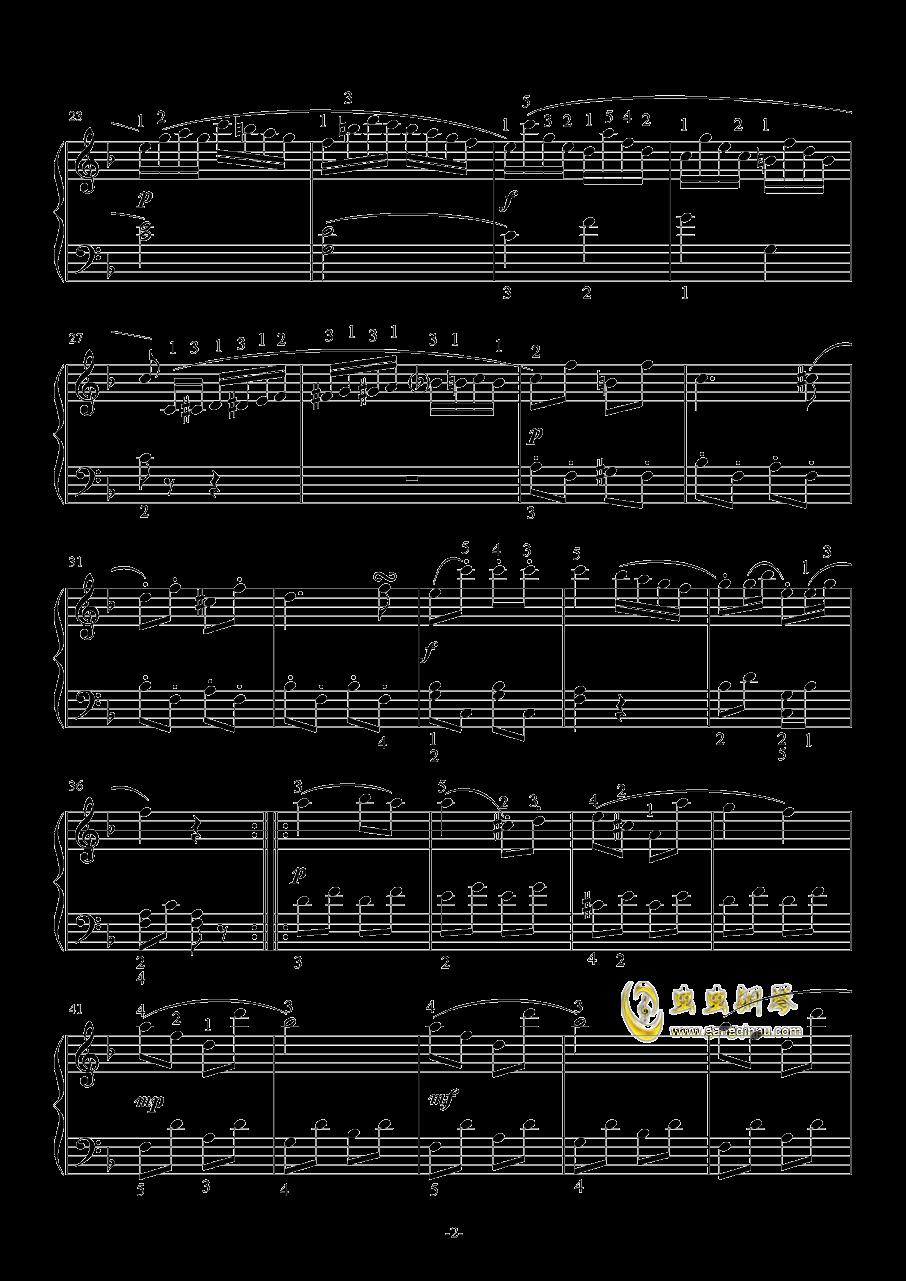 回旋曲钢琴谱 第2页