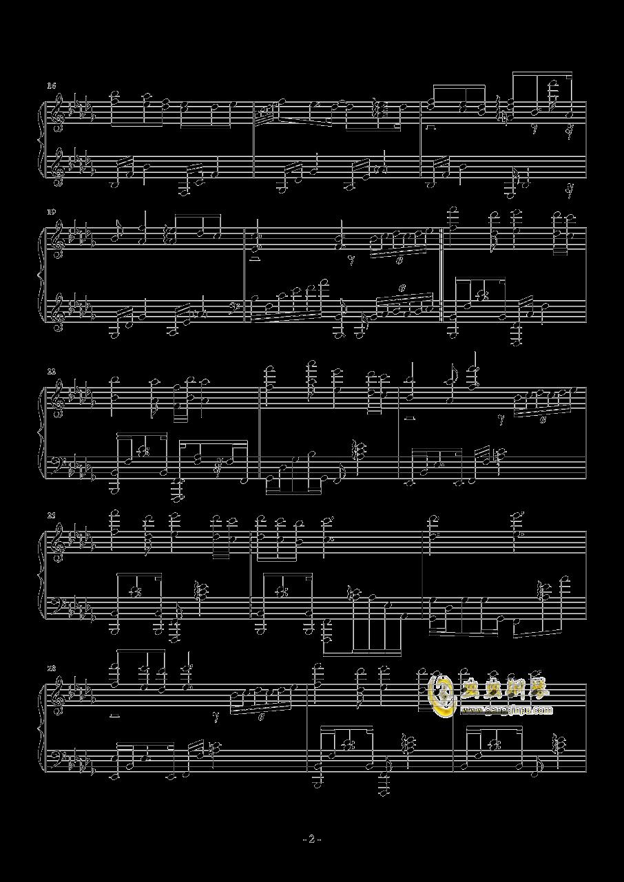 奇迹暖暖・夏沫海歌BGM钢琴谱 第2页
