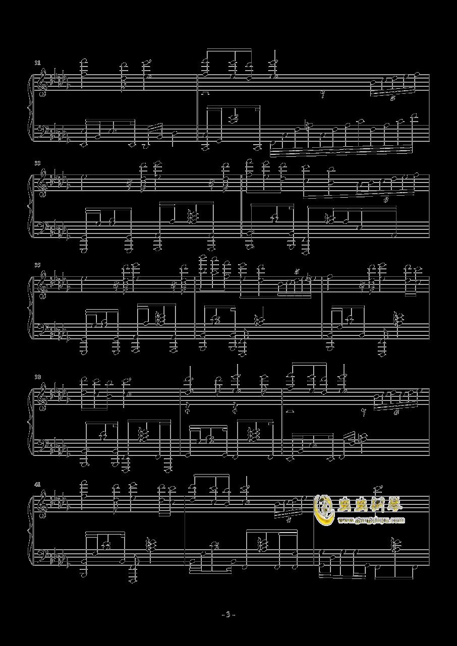 奇迹暖暖・夏沫海歌BGM钢琴谱 第3页