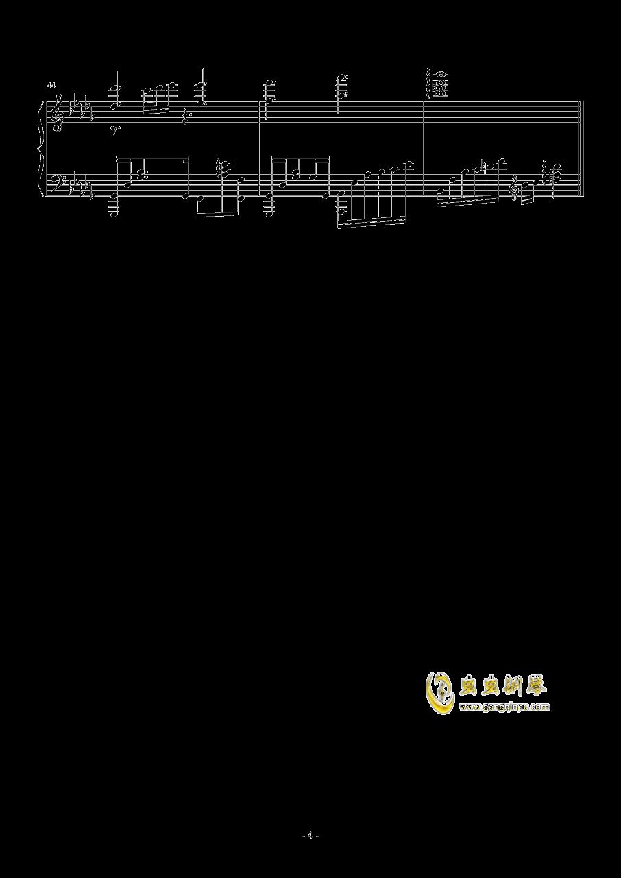 奇迹暖暖・夏沫海歌BGM钢琴谱 第4页