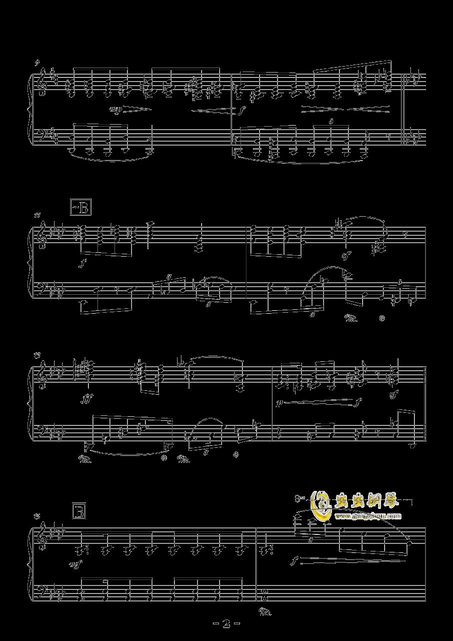 b小调浪漫曲钢琴谱 第2页
