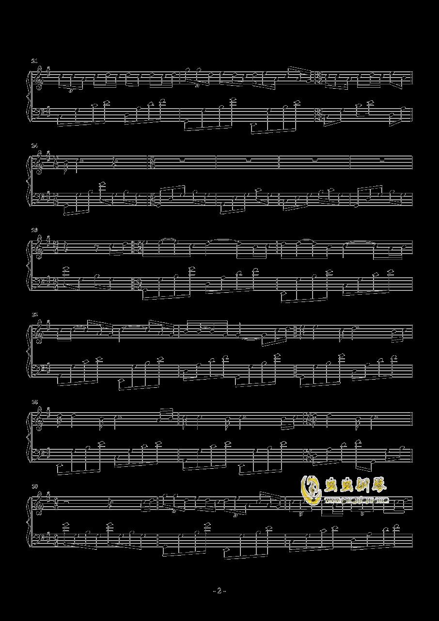 七月上钢琴谱 第2页